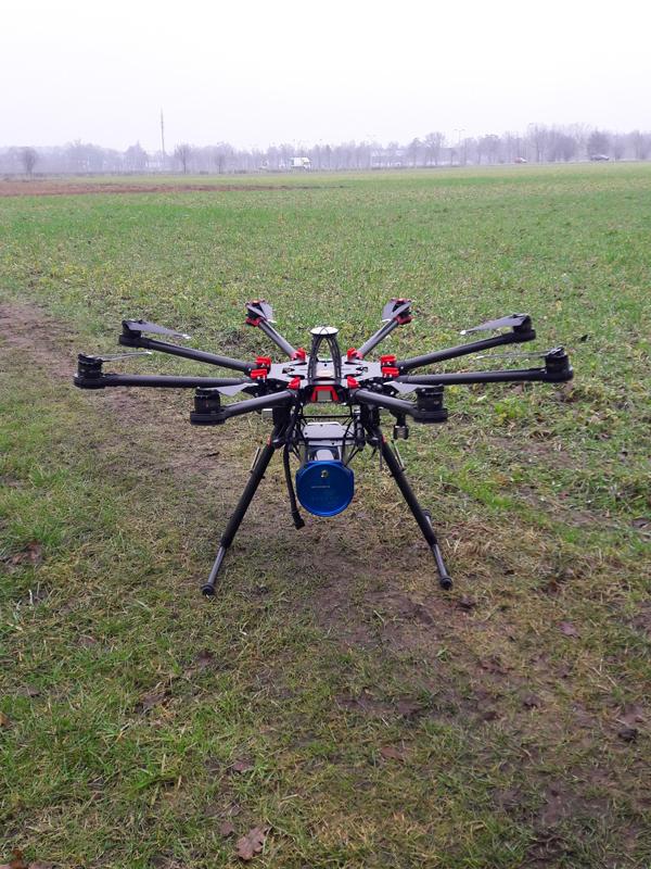 Sensor under drone