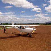 Gamma ray spectrometer-light-weight plane in Madagascar