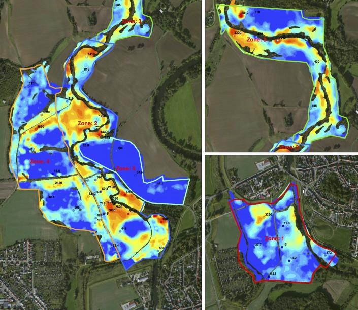 Dioxine verontreiniging uiterwaarden spittelwasser gamma spectrometer