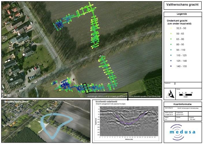 Resultaat van onderzoek met de grondradar