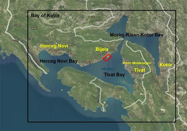 Kaart van het onderzoeksgebied
