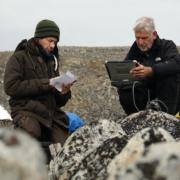 Veldwerk op Spitsbergen.