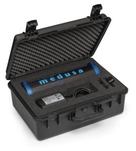Medusa MS-1000 spectrometer voor drone-borne gamma metingen.